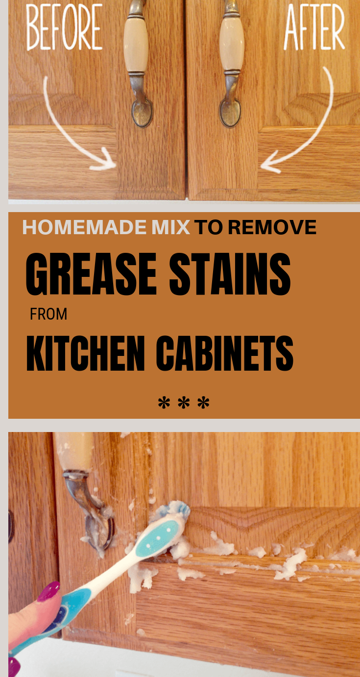 Homemade Mix To Remove Grease Stains From Kitchen Cabinets