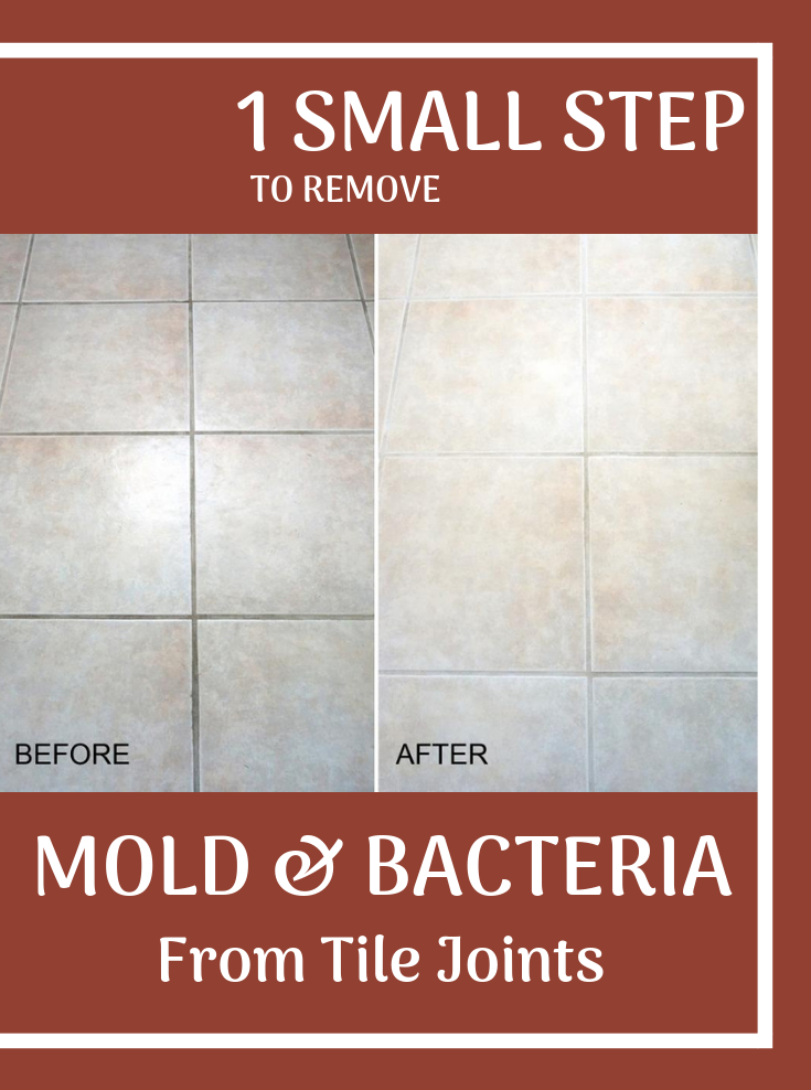 1 Small Step To Remove Mold And Bacteria From Tile Joints