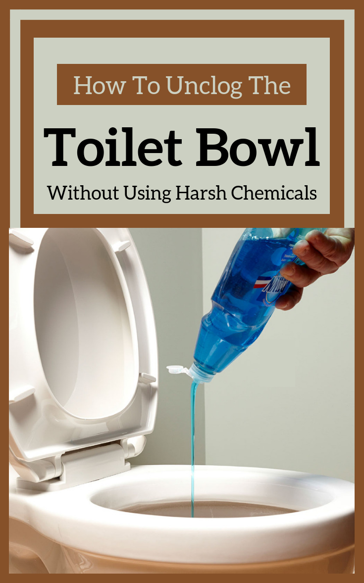 How To Unclog The Toilet Bowl Without Using Harsh
