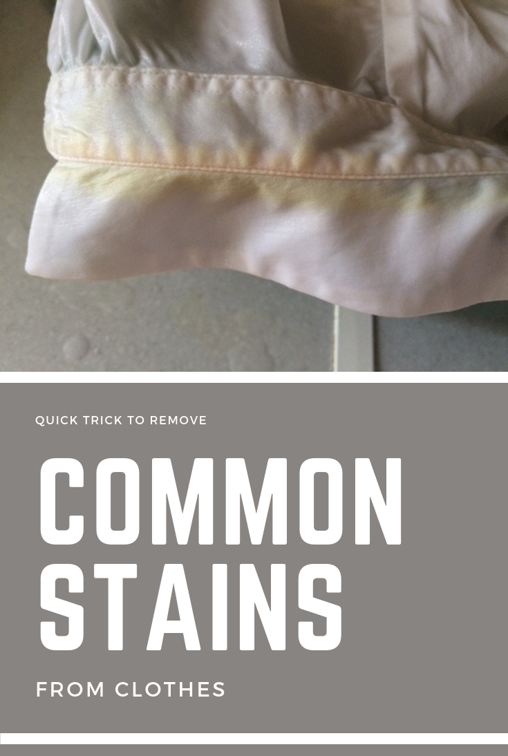 Quick Trick To Remove Common Stains From Clothes