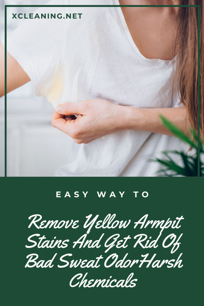 easy way to remove yellow armpit stains and get rid of bad