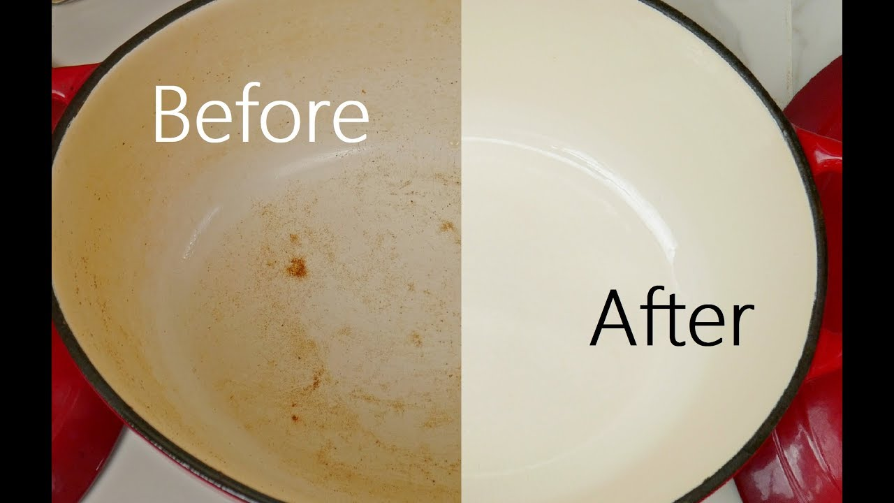 The Best Way Remove Burnt Food From Enameled Cookware Xcleaning Your Cleaning Tips