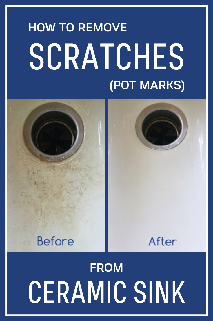 How To Remove Scratches (Pot Marks) From Ceramic Sink  xCleaning.net - Your Cleaning Tips